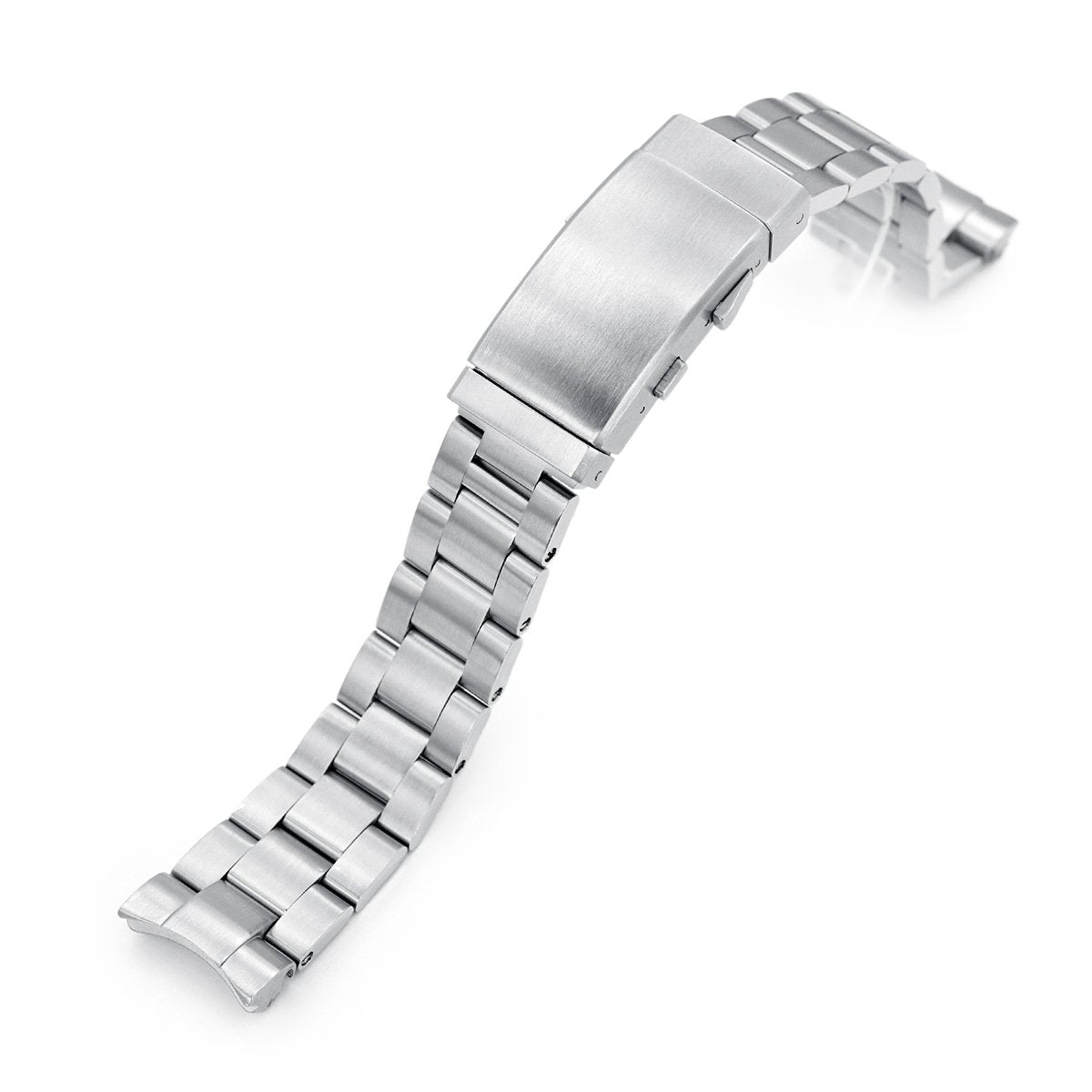 20mm Super-O Boyer 316L Stainless Steel Watch Bracelet for Seiko Mini Turtles SRPC35 Wetsuit Ratchet Buckle Brushed Strapcode Watch Bands