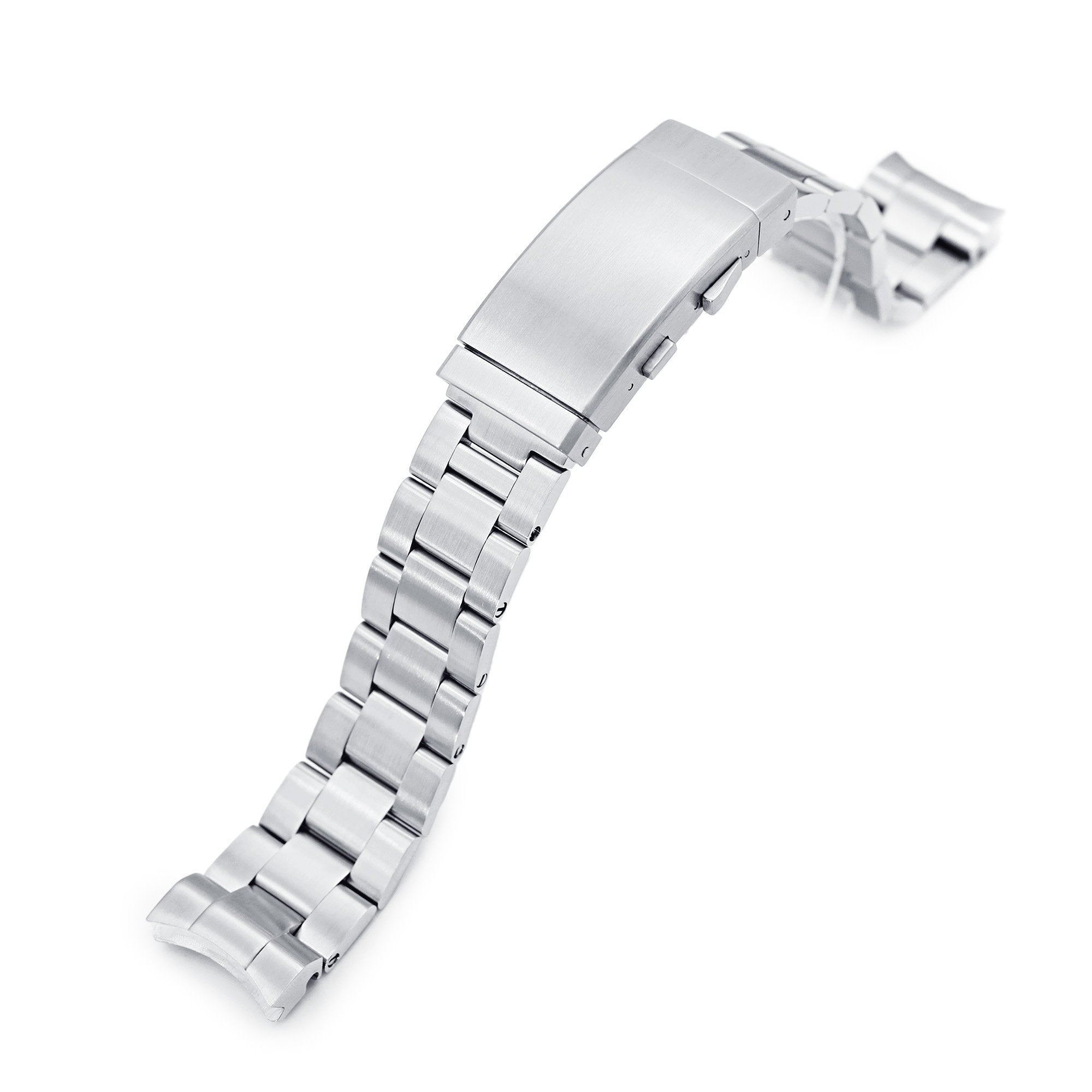 20mm Super-O Boyer 316L Stainless Steel Watch Bracelet for Seiko Baby MM 200 Brushed Wetsuit Ratchet Buckle Strapcode Watch Bands