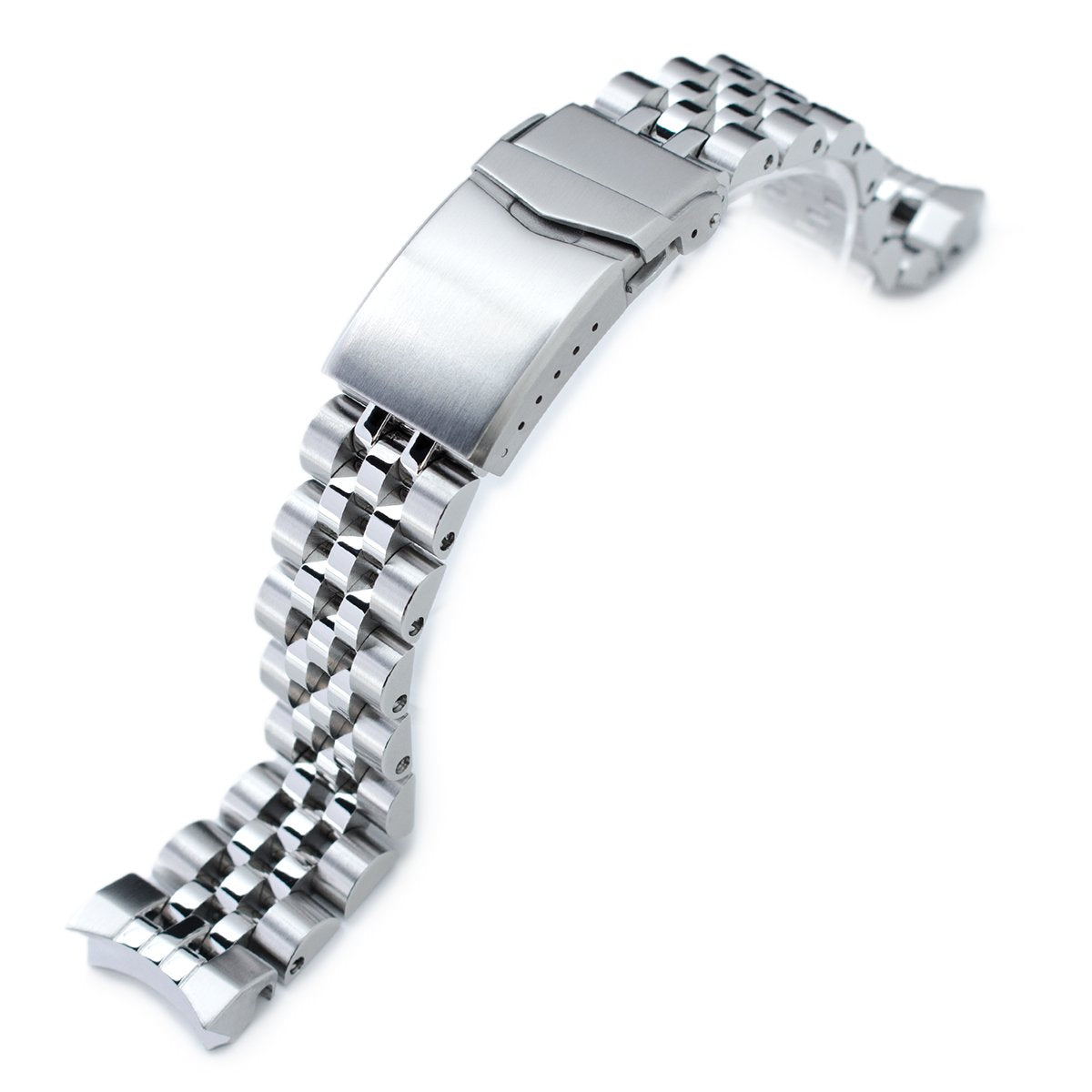 20mm Angus-J Louis 316L Stainless Steel Watch Bracelet for Seiko Sumo SBDC001 Brushed Polished V-Clasp Strapcode Watch Bands