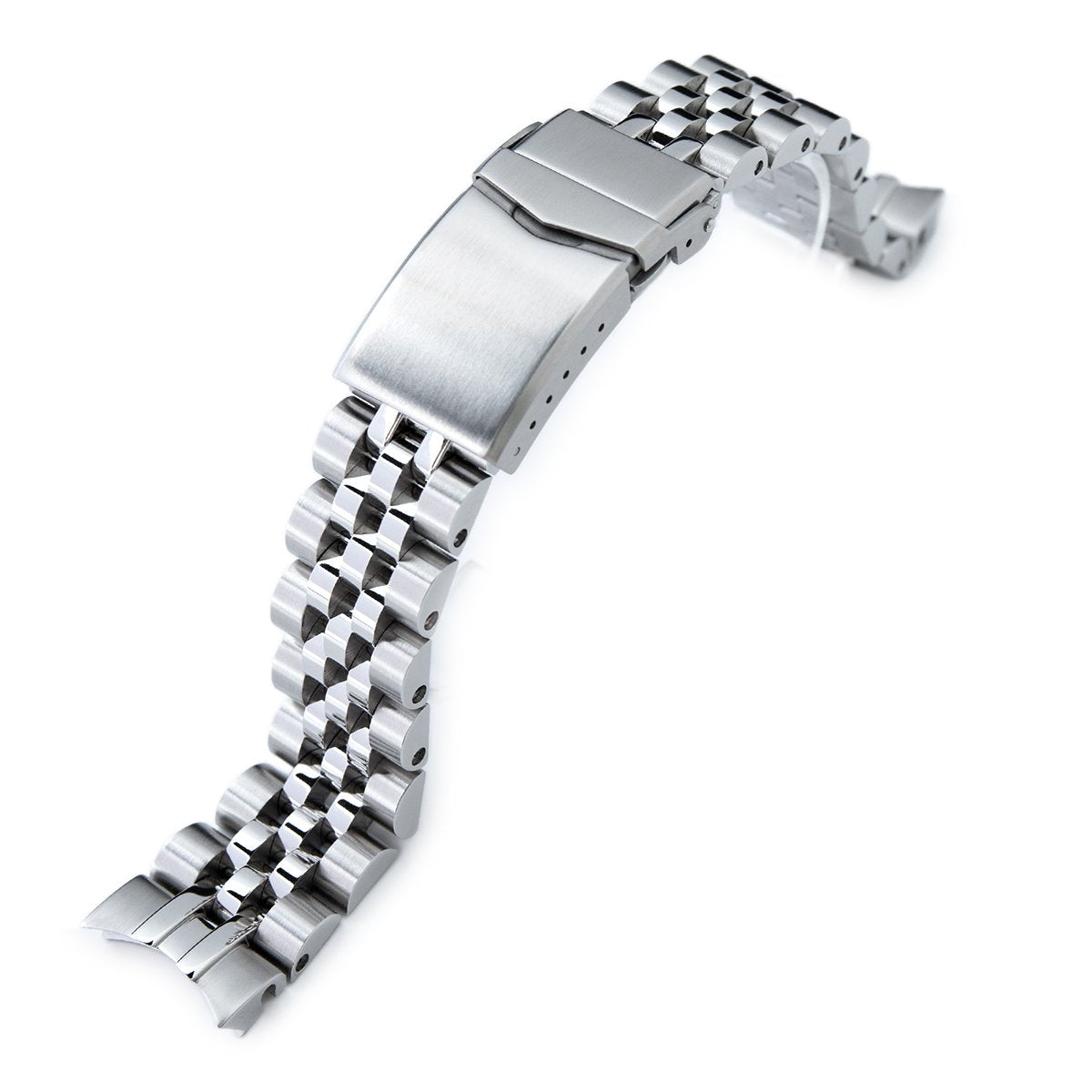 20mm Angus-J Louis 316L Stainless Steel Watch Bracelet for Seiko Alpinist SARB017 (or Hamilton K.) Brushed V-Clasp Strapcode Watch Bands