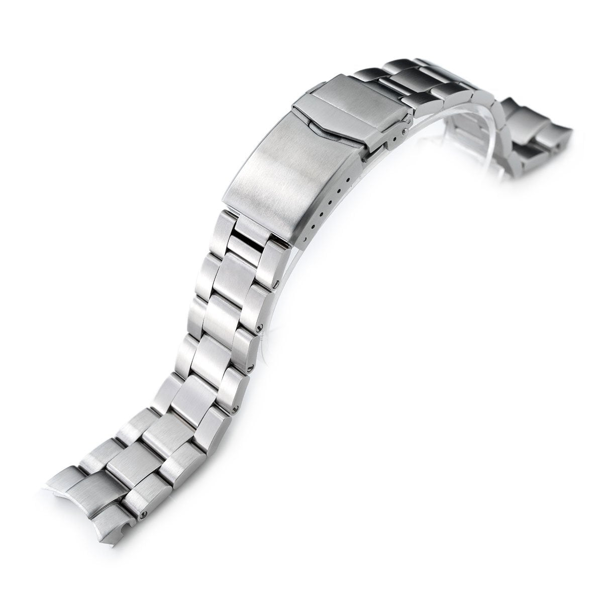 20mm Super-O Boyer watch band for Seiko Alpinist SARB017 (or Hamilton K.) Brushed V-Clasp Button Double Lock Strapcode Watch Bands