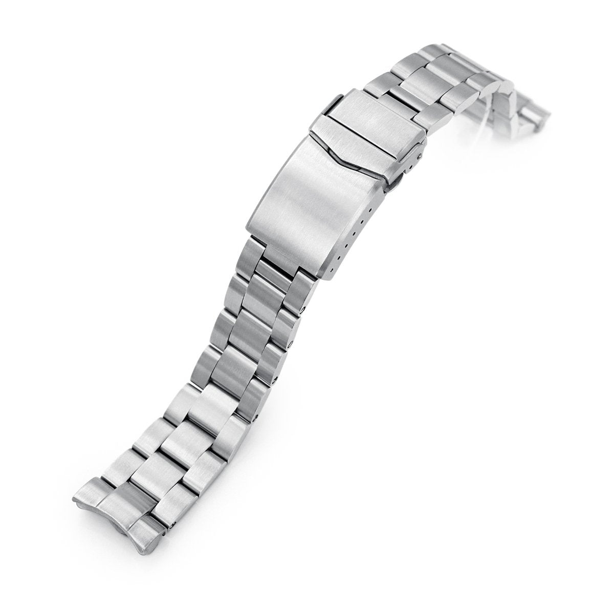 20mm Super-O Boyer 316L Stainless Steel Watch Bracelet for Seiko Mini Turtles SRPC35 V-Clasp Brushed Strapcode Watch Bands