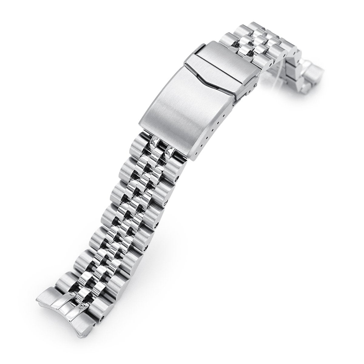 20mm Angus-J Louis 316L Stainless Steel Watch Bracelet for Seiko Mini Turtles SRPC35 Brushed V-Clasp Strapcode Watch Bands