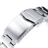 20mm Super-O Boyer 316L Stainless Steel Watch Bracelet for Seiko Cocktail SSA345 V-Clasp Brushed Strapcode Watch Bands