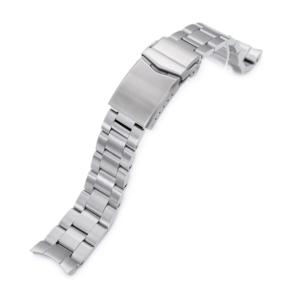 20mm Super-O Boyer 316L Stainless Steel Watch Bracelet for Seiko Mechanical Automatic SARB035 V-Clasp Brushed Strapcode Watch Bands