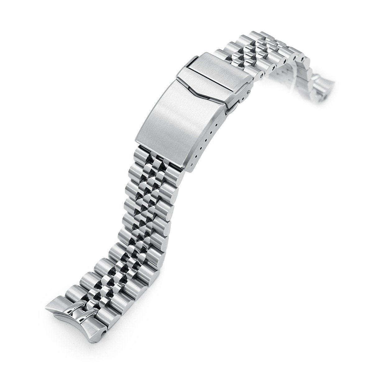 20mm Super-J Louis 316L Stainless Steel Watch Bracelet for Seiko SKX013 V-Clasp Brushed Strapcode Watch Bands