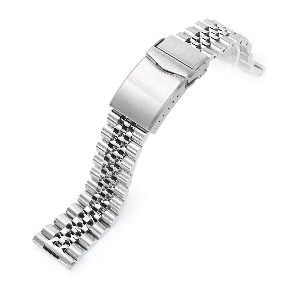 20mm Super-J Louis 316L Stainless Steel Watch Bracelet Straight End V-Clasp Brushed Strapcode Watch Bands