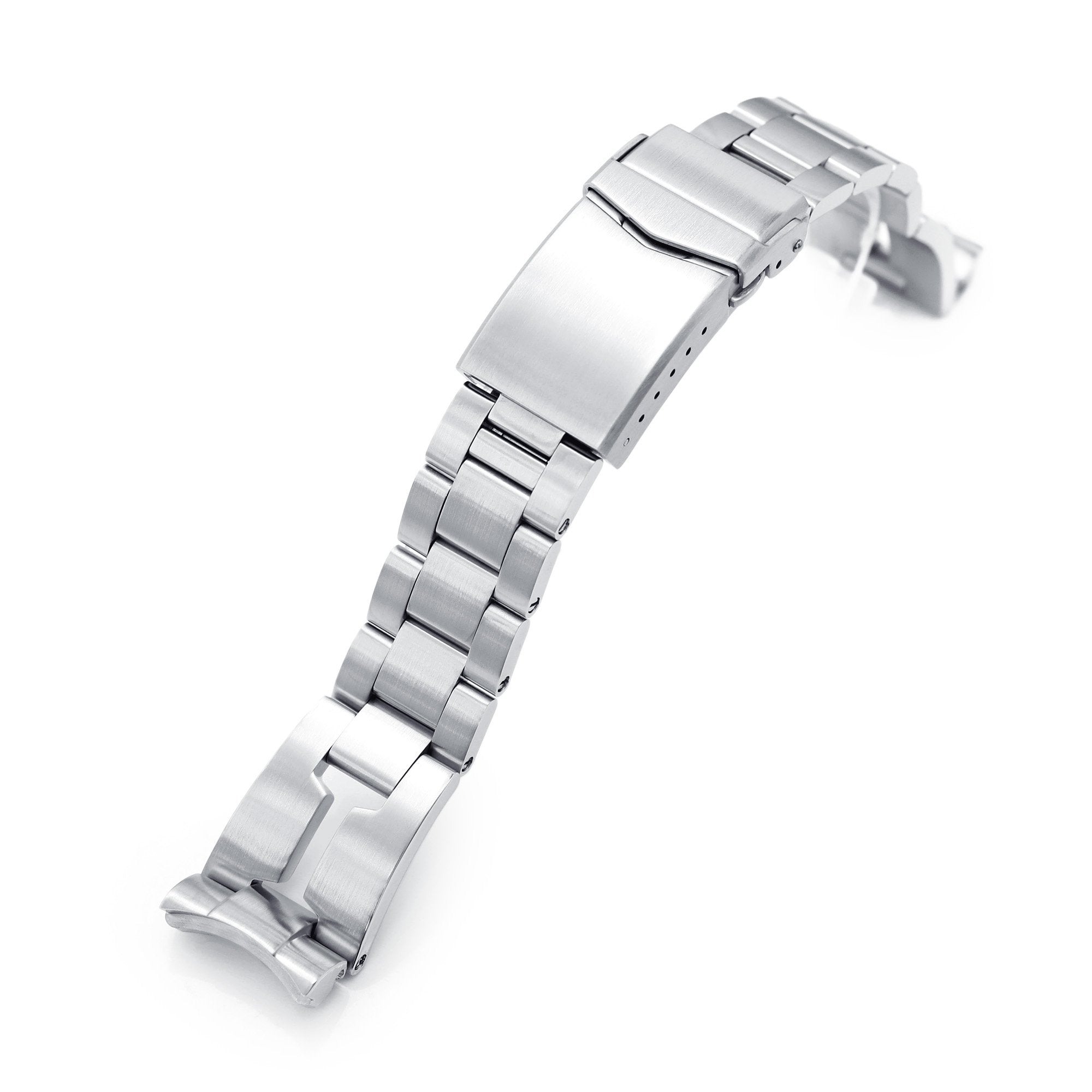 20mm Retro Razor 316L Stainless Steel Watch Bracelet for Seiko Mini Turtles SRPC35 Brushed V-Clasp Strapcode Watch Bands