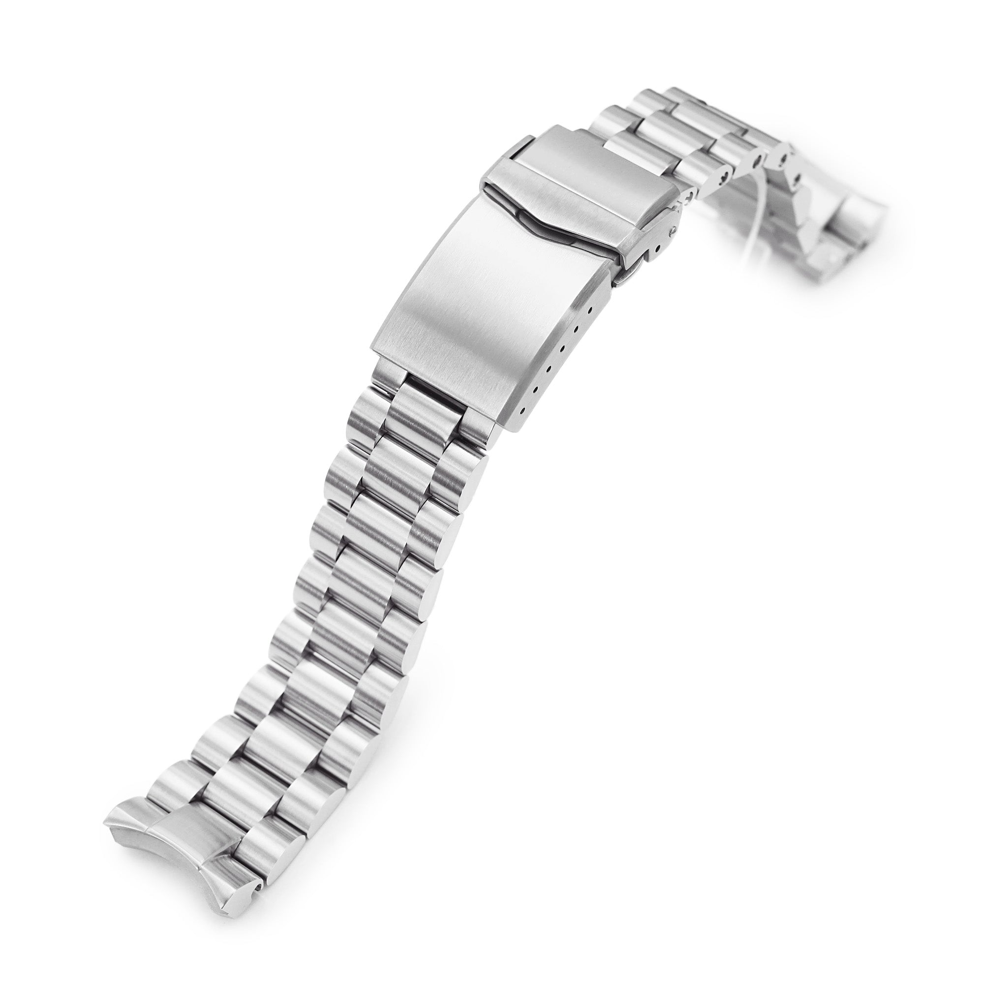 20mm Endmill 316L Stainless Steel Watch Bracelet for Seiko Mini Turtles SRPC35, Brushed V-Clasp Strapcode Watch Bands