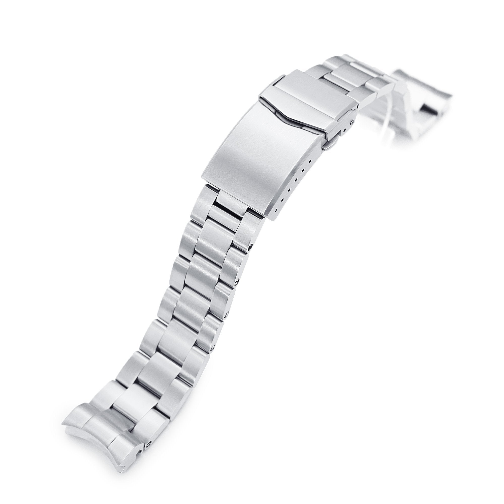 20mm Super-O Boyer 316L Stainless Steel Watch Bracelet for Seiko Baby MM 200 Brushed V-Clasp Strapcode Watch Bands