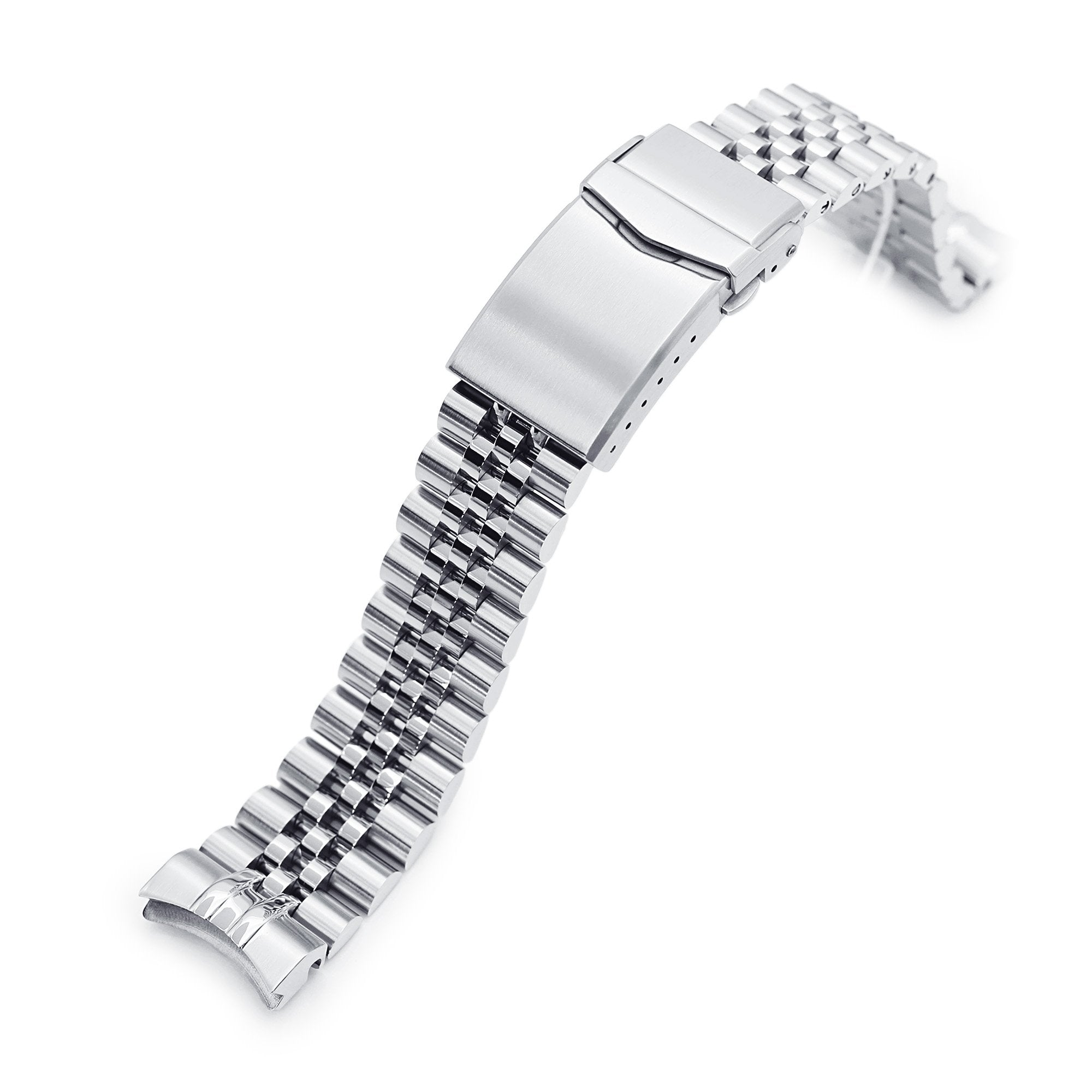 20mm Super-J Louis 316L Stainless Steel Watch Bracelet for Seiko Baby MM 200 Brushed V-Clasp Strapcode Watch Bands