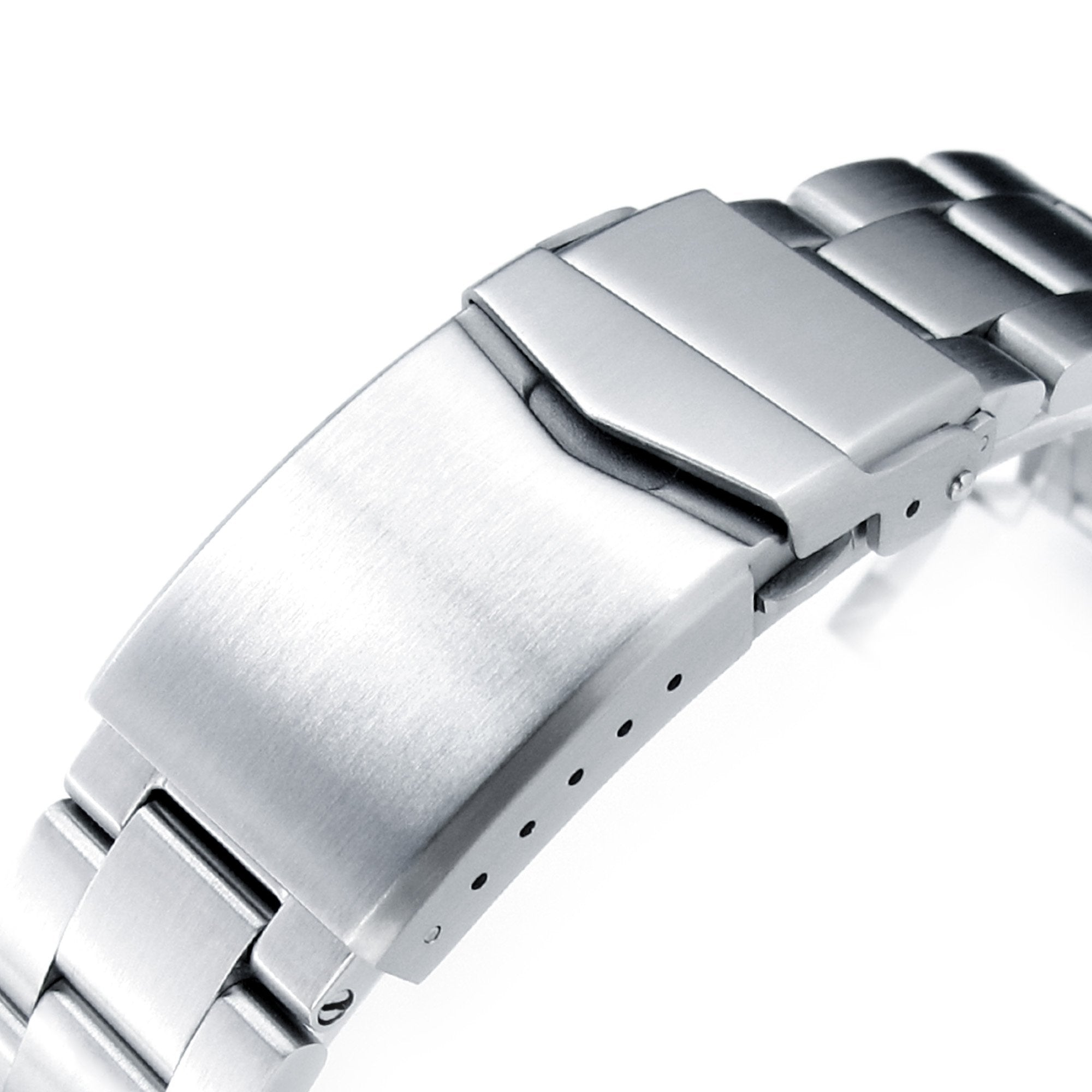 20mm Retro Razor 316L Stainless Steel Watch Bracelet for TUD BB58 Brushed V-Clasp Strapcode Watch Bands