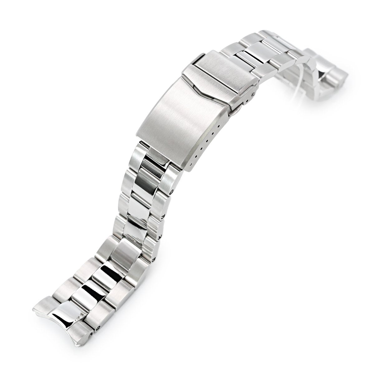 20mm Super-O Boyer 316L Stainless Steel Watch Bracelet for Seiko Mini Turtles SRPC35 V-Clasp Polished & Brushed Strapcode Watch Bands