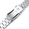 20mm Endmill 316L Stainless Steel Watch Bracelet for Seiko SKX013 Brushed and Polished V-Clasp Strapcode Watch Bands