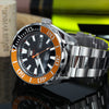Seiko 5 Sports Watch SRPC59J1 Orange Black 100M Automatic watch MADE in JAPAN Strapcode Watch Bands