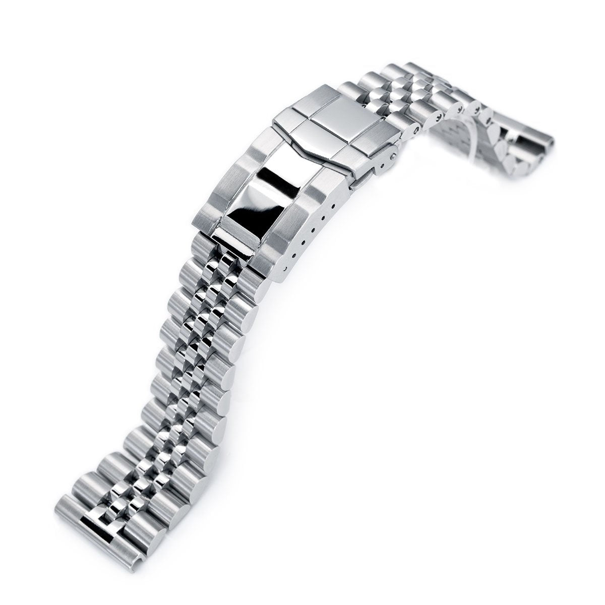 22mm Super-J Louis 316L Stainless Steel Watch Band Solid Straight End Brushed & Polished SUB Clasp Strapcode Watch Bands