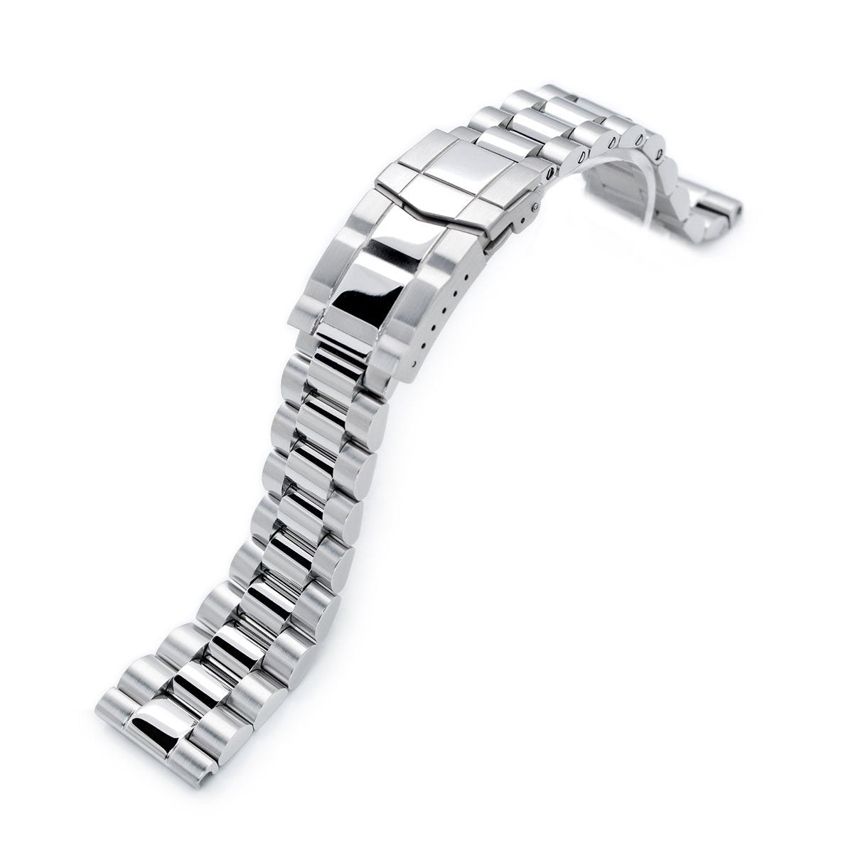 22mm Endmill 316L Stainless Steel Watch Bracelet Straight End Brushed & Polished SUB Clasp Strapcode Watch Bands