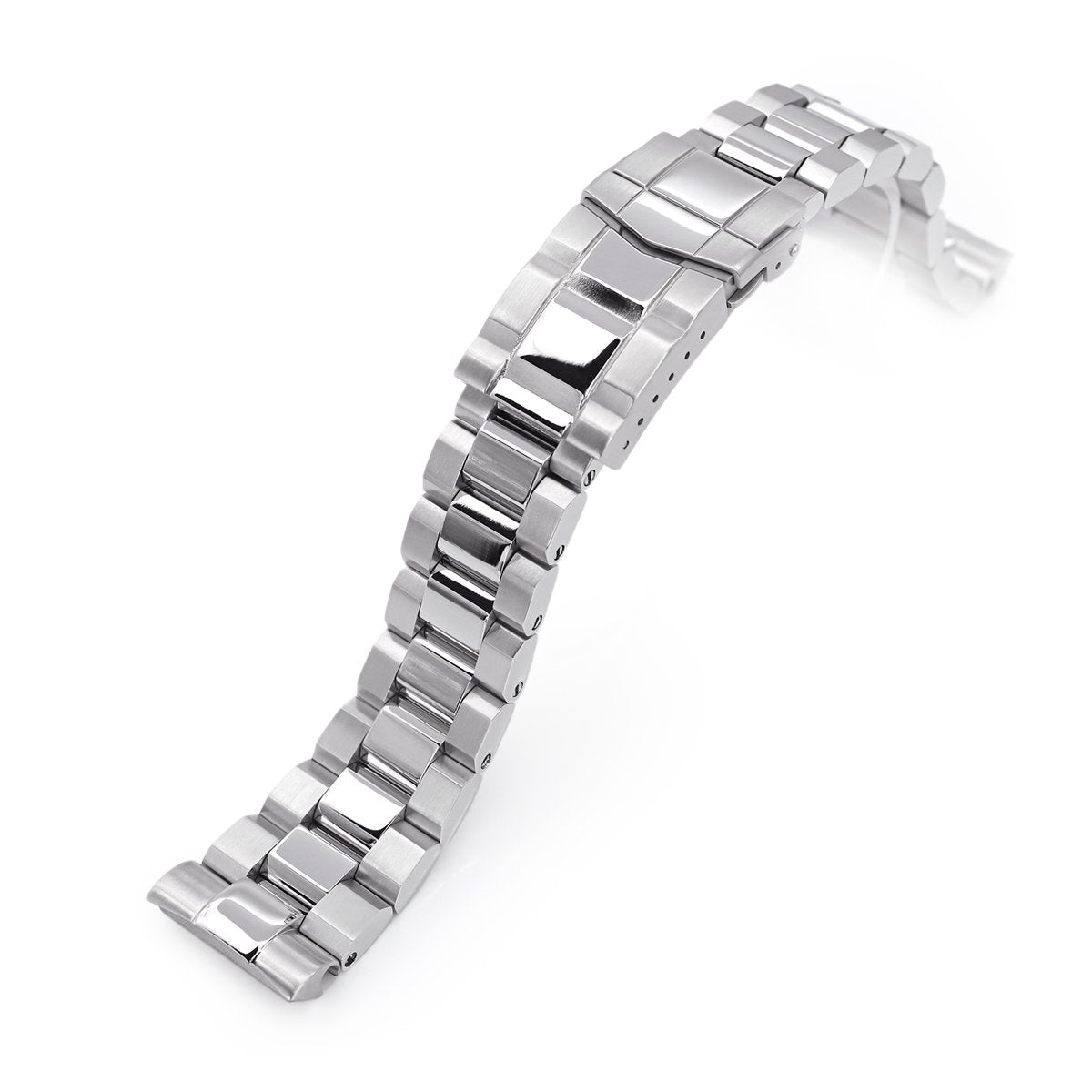 22mm Hexad 316L Stainless Steel Watch Band for Seiko New Turtles SRP777 & PADI SRPA21 Polished & Brushed SUB Clasp Strapcode Watch Bands