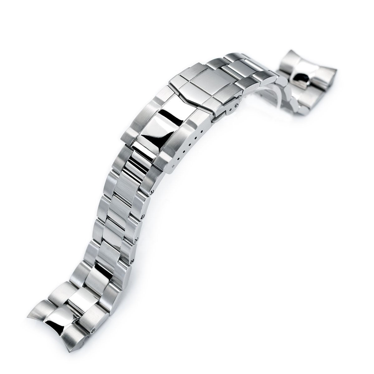22mm Super-O Boyer 316L Stainless Steel Watch Band for Orient Mako II Ray II Brushed Polished SUB Clasp Strapcode Watch Bands