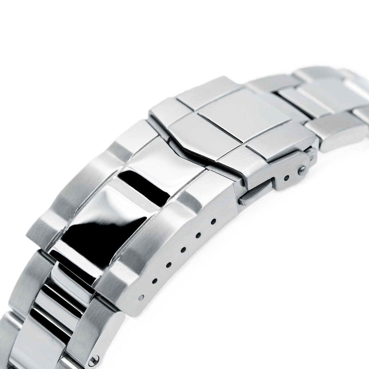 22mm Super-O Boyer 316L Stainless Steel Watch Bracelet for TUD BB, Brushed & Polished SUB Clasp Strapcode Watch Bands