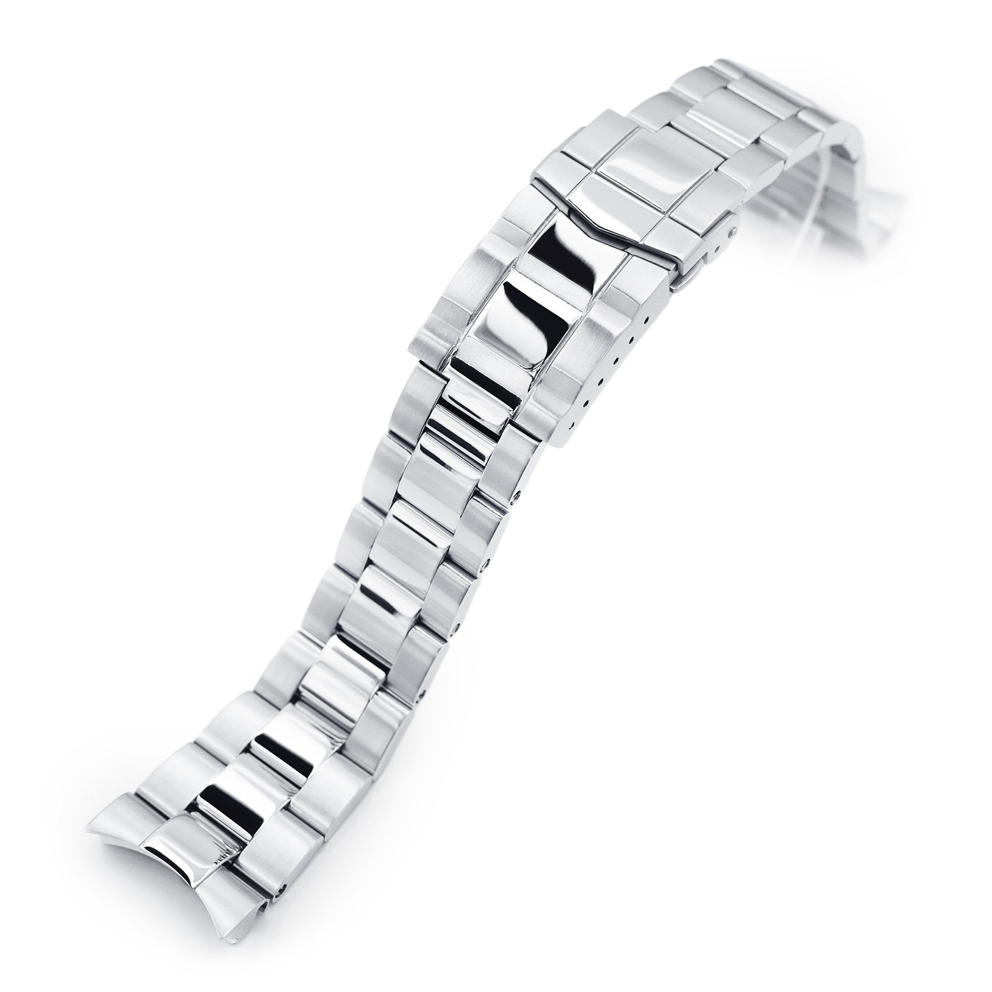 22mm Super-O Boyer 316L Stainless Steel Watch Bracelet for Orient Kamasu Brushed with Polished Center SUB Clasp Strapcode Watch Bands