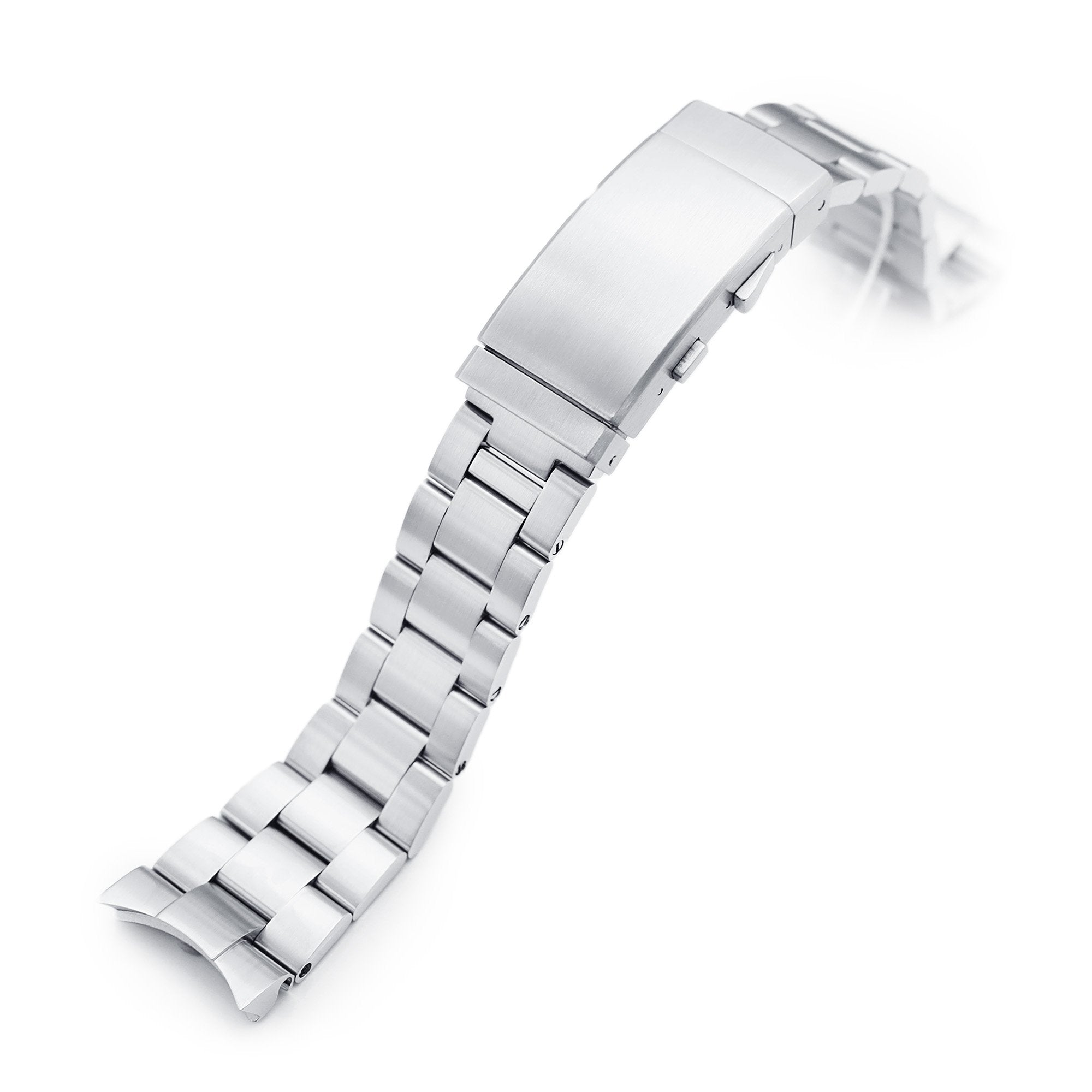 22mm Super-O Boyer 316L Stainless Steel Watch Bracelet for Orient Kamasu Brushed Wetsuit Ratchet Buckle Strapcode Watch Bands