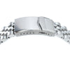 22mm Angus-J Louis 316L Stainless Steel Watch Bracelet for Seiko SKX007 Brushed Polished V-Clasp Strapcode Watch Bands
