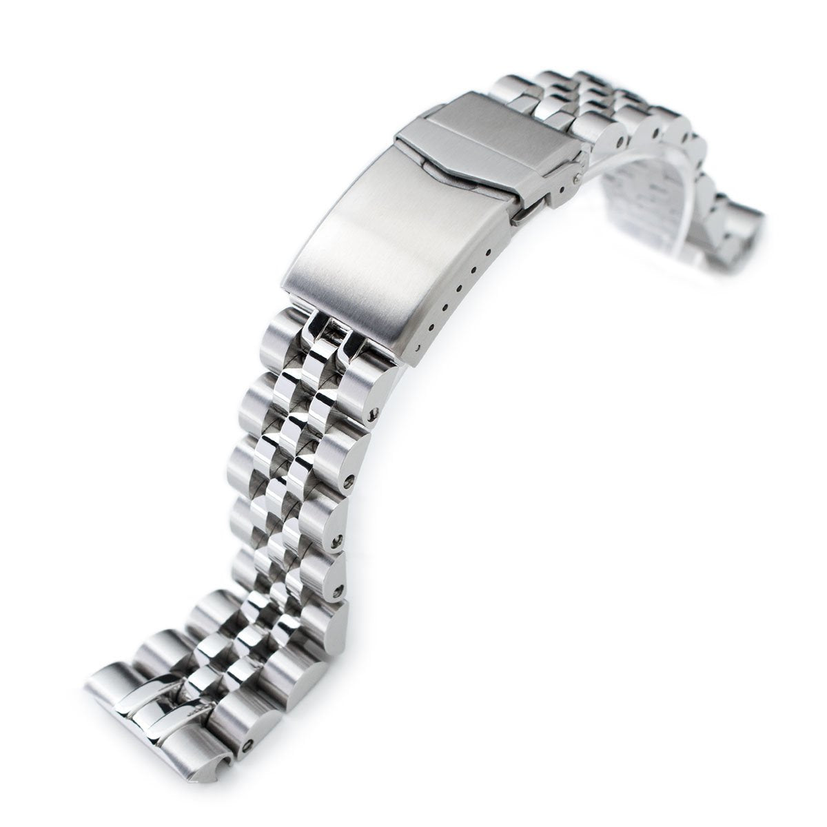 22mm Angus-J Louis 316L Stainless Steel Watch Bracelet for Seiko Turtle SRP777 Brushed Polished V-Clasp Strapcode Watch Bands