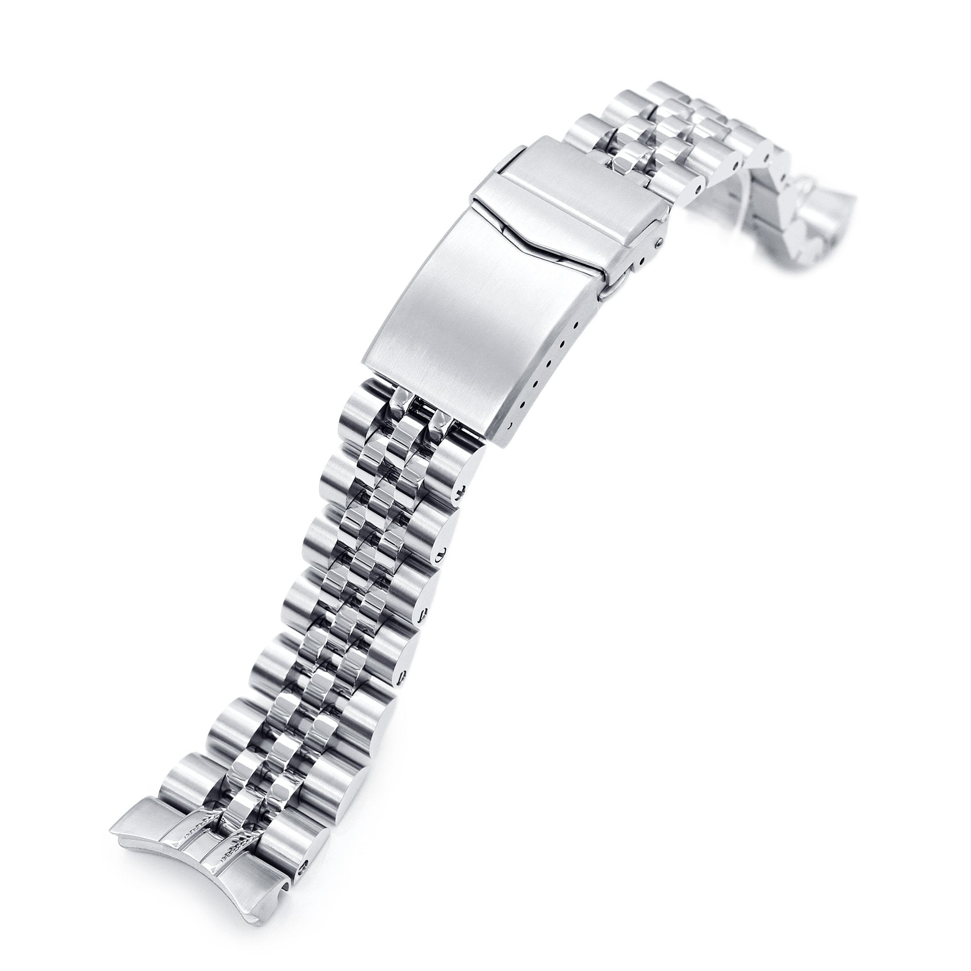 22mm Angus-J Louis 316L Stainless Steel Watch Bracelet for Orient Triton Brushed V-Clasp Strapcode Watch Bands