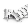 22mm Super-O Boyer 316L Stainless Steel Watch Bracelet for Orient Triton Brushed V-Clasp Strapcode Watch Bands