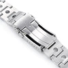 22mm Rollball 316L Stainless Steel Watch Bracelet for Seiko SKX007 Brushed V-Clasp Strapcode Watch Bands