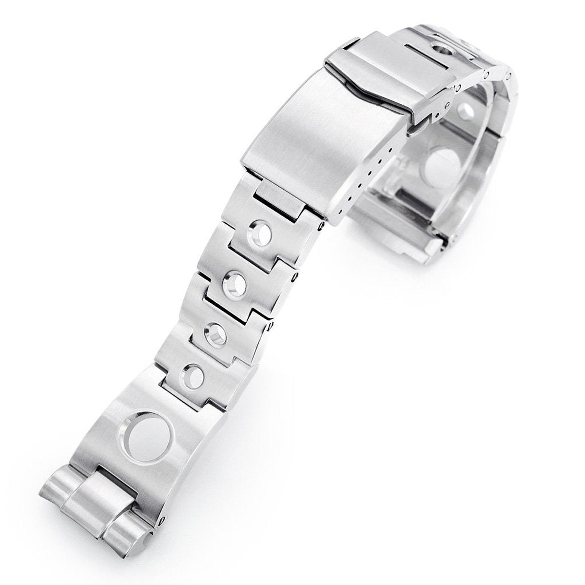 22mm Rollball 316L Stainless Steel Watch Bracelet for Seiko New Turtles SRP777 Brushed V-Clasp Strapcode Watch Bands