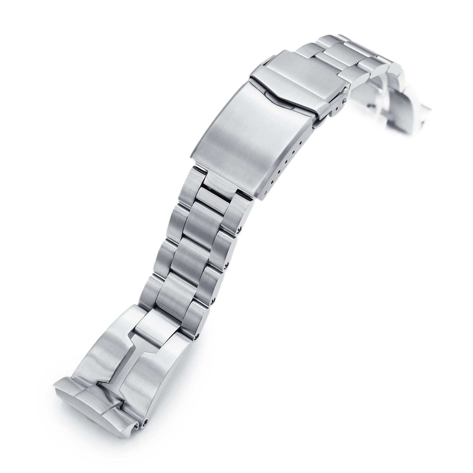 22mm Retro Razor 316L Stainless Steel Watch Bracelet for Seiko new Turtles SRP777 Brushed V-Clasp Strapcode Watch Bands