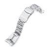 22mm Retro Razor 316L Stainless Steel Watch Bracelet for TUD BB 79230 Brushed V-Clasp Strapcode Watch Bands