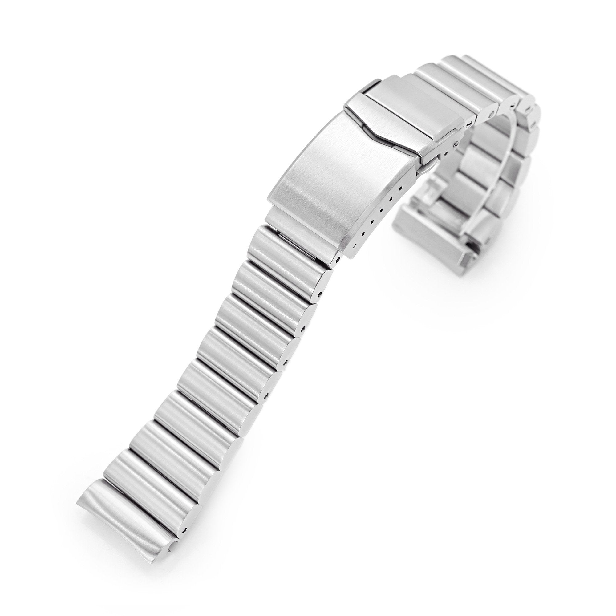 22mm Bandoleer 316L Stainless Steel Watch Bracelet for Seiko new Turtles SRP777 Brushed V-Clasp Strapcode Watch Bands