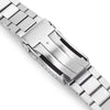 22mm Bandoleer 316L Stainless Steel Watch Bracelet Straight End Brushed V-Clasp Strapcode Watch Bands
