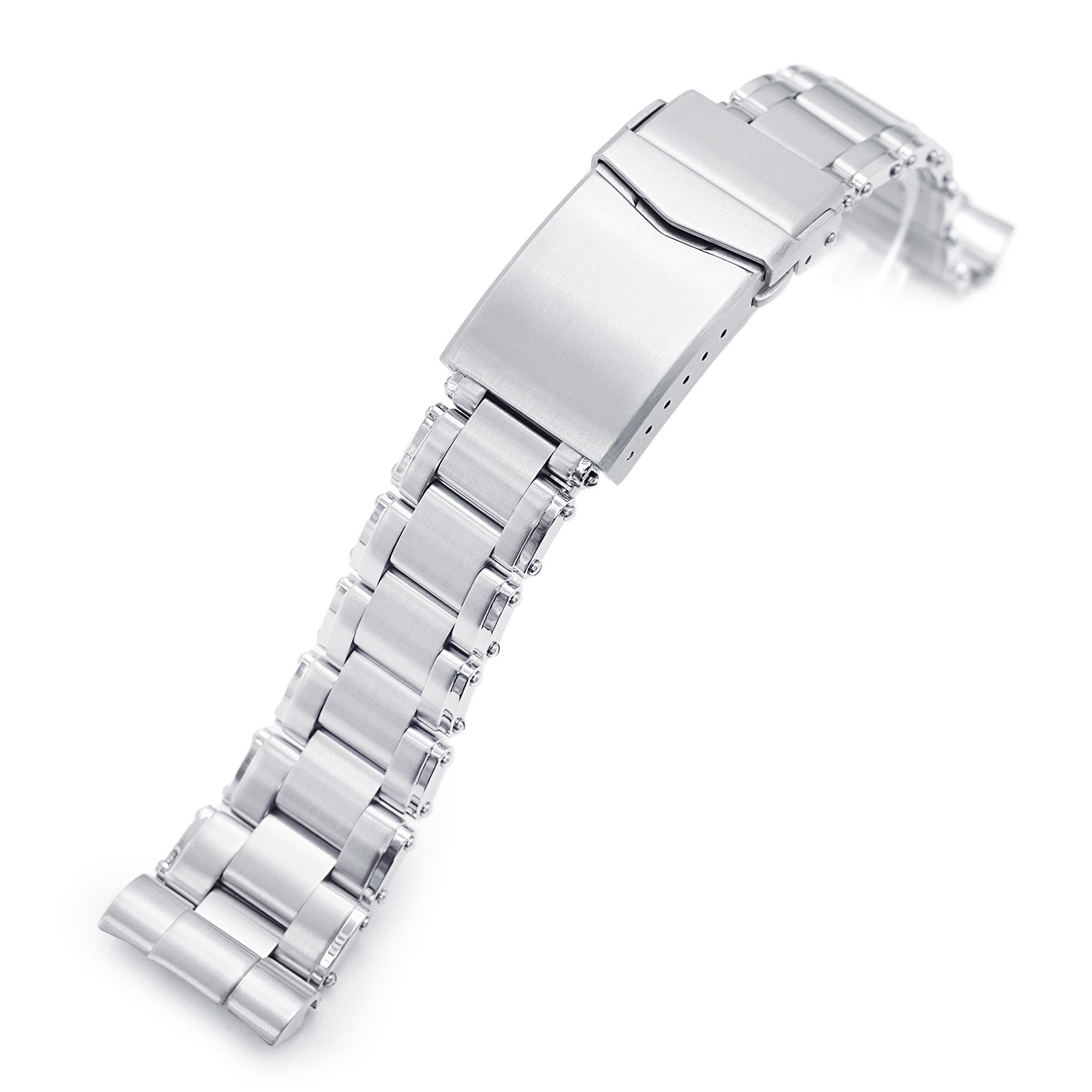 22mm Metabind 316L Stainless Steel Watch Bracelet for Seiko new Turtles SRP777 Brushed V-Clasp Strapcode Watch Bands