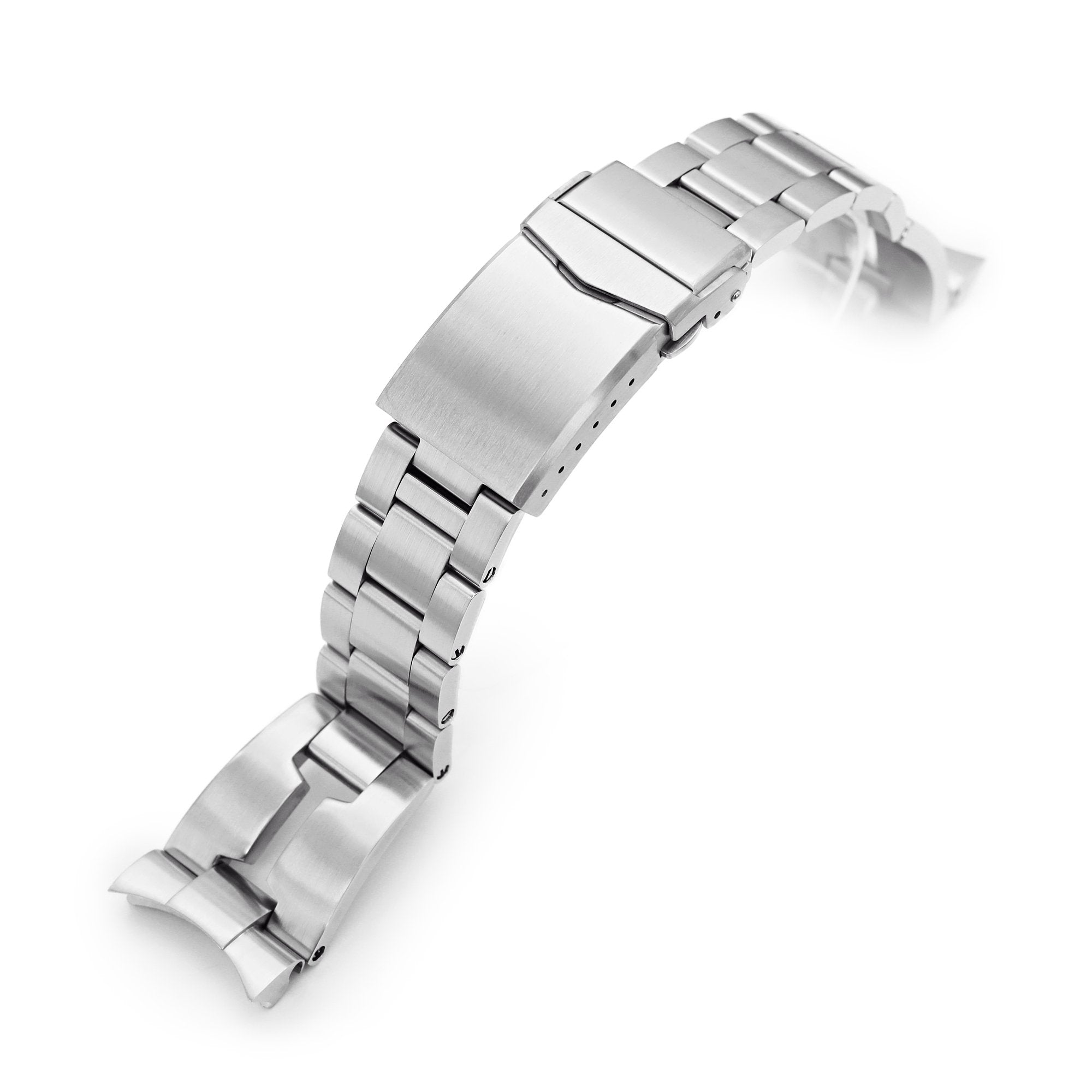 22mm Retro Razor 316L Stainless Steel Watch Bracelet for Orient Kamasu Brushed V-Clasp Strapcode Watch Bands