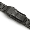 22mm Super-O Boyer 316L Stainless Steel Watch Bracelet for Seiko 5 Diamond-like Carbon (DLC) V-Clasp Strapcode Watch Bands