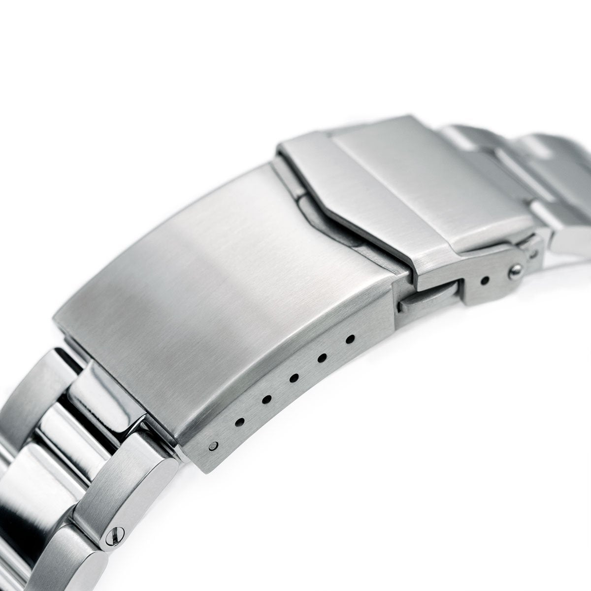 22mm Super-O Boyer 316L Stainless Steel Watch Bracelet for TUD BB V-Clasp Brushed & Polished Strapcode Watch Bands