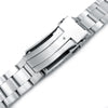 22mm Super-O Boyer 316L Stainless Steel Watch Bracelet for Orient Triton V-Clasp Polished & Brushed Strapcode Watch Bands
