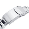 22mm Metabind 316L Stainless Steel Watch Bracelet Straight End Brushed and Polished V-Clasp Strapcode Watch Bands