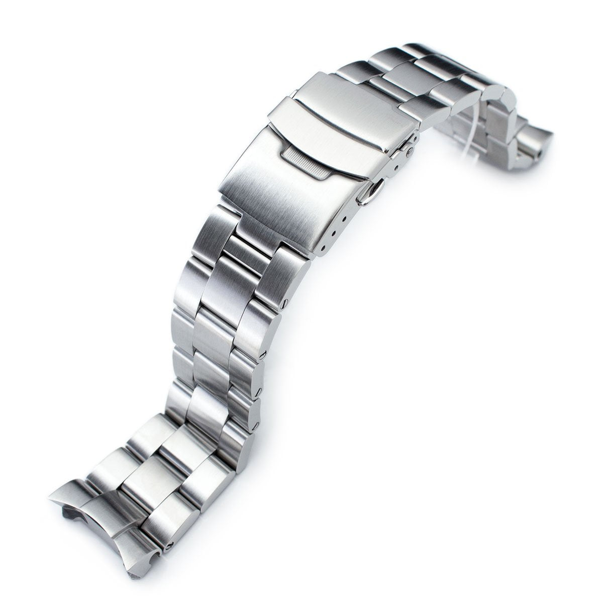22mm Super-O Boyer Solid Link 316L Stainless Steel Bracelet for Seiko SKX007 Diver Strapcode Watch Bands