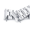 22mm Super-O Boyer 316L Stainless Steel Watch Bracelet for Seiko 6309-7040 Brushed V-Clasp Strapcode Watch Bands