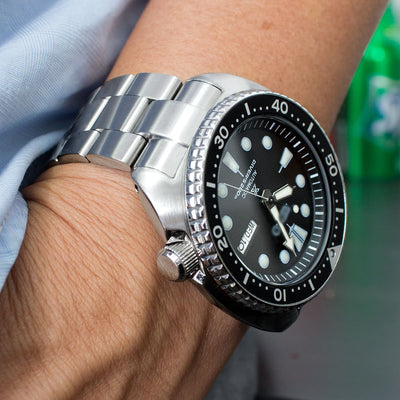 22mm Super Oyster Watch Bracelet for Seiko New Turtles SRP777 & PADI SRPA21 Chamfer Brushed