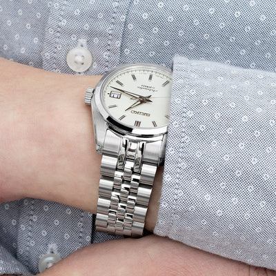 20mm ANGUS Jubilee 316L Stainless Steel Watch Bracelet for Seiko SARB035, Brushed, Submariner Clasp - Strapcode