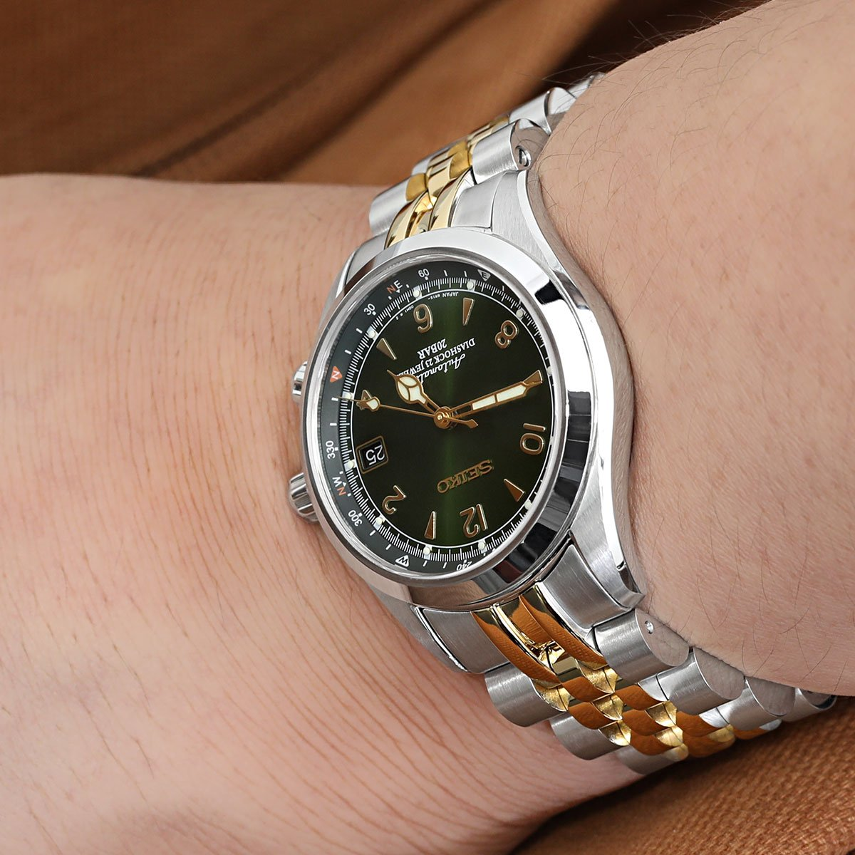 c10e85d9356 20mm ANGUS Jubilee 316L Stainless Steel Watch Bracelet for Seiko Alpinist  SARB017