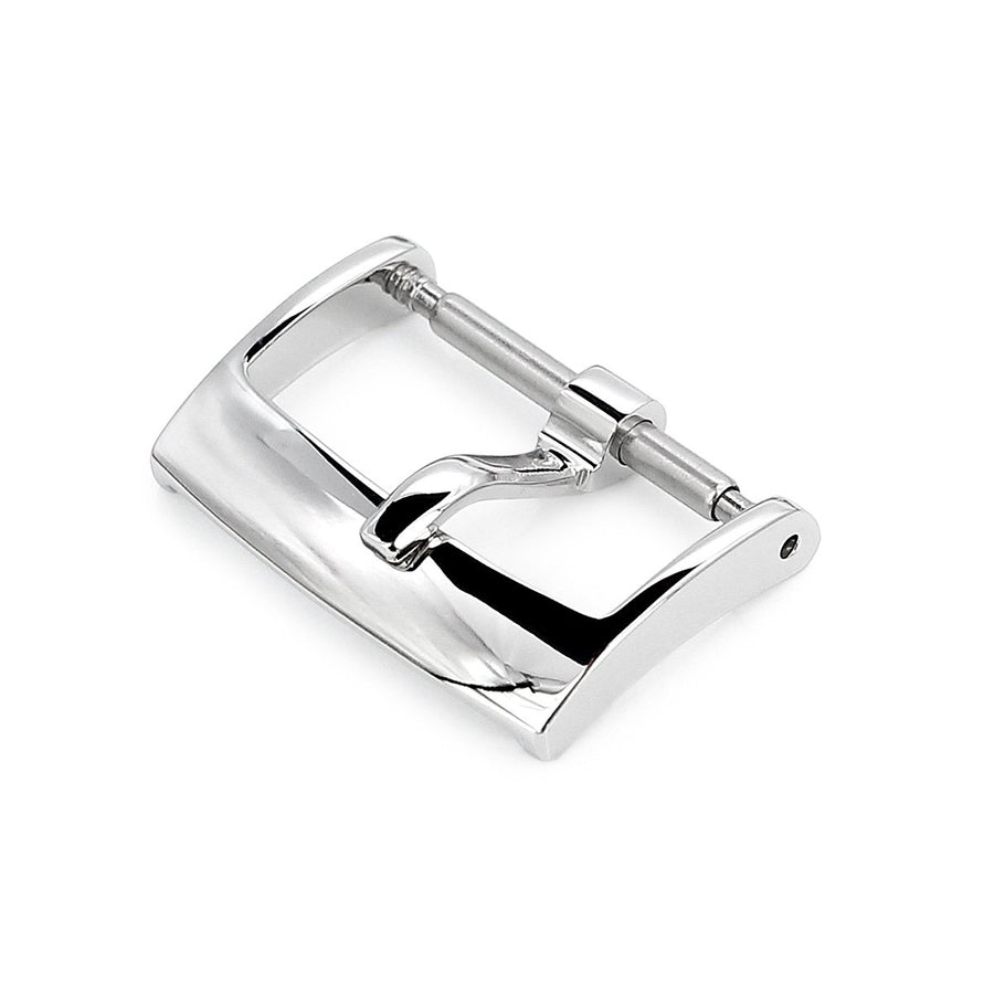 16mm, 18mm Solid 316L Stainless Steel Classic 2mm-Tongue Buckle, Polished