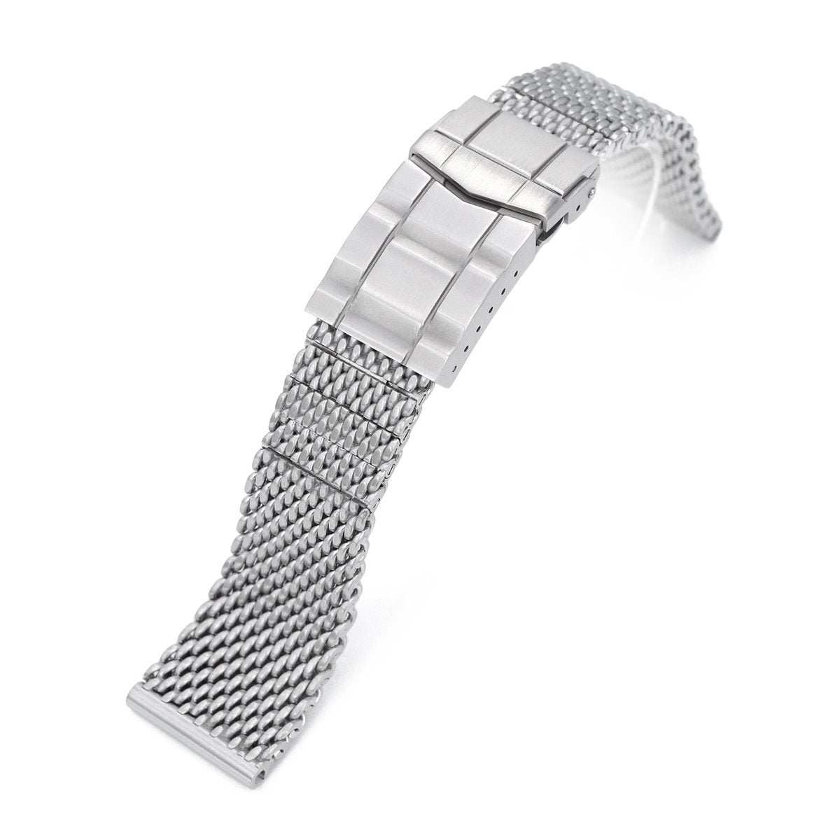 20mm 22mm Solid End Massy Mesh Band Stainless Steel Watch Bracelet SUB Diver Clasp Brushed Strapcode Watch Bands