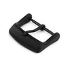 18mm 20mm #64 Sporty Tang Buckle for Leather Watch Strap PVD Black Strapcode Buckles